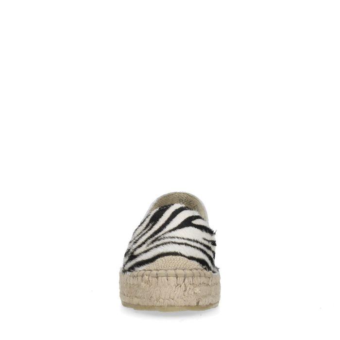 Espadrilles met zebraprint