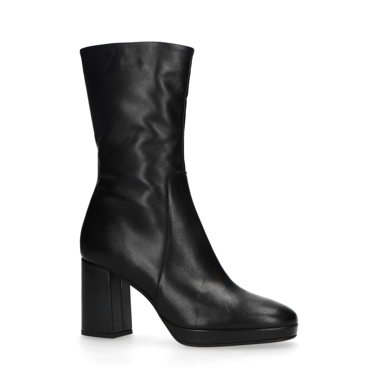Sacha Zwarte korte laarzen met hak