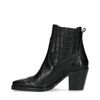 Zwarte chelsea boots met snakeskin