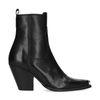 Zwarte western boots met metalen neus