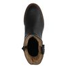Zwarte leren boots met gesp en imitatiebont