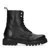Zwarte biker boots met lus