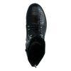 Zwarte veterlaarsjes met crocoprint