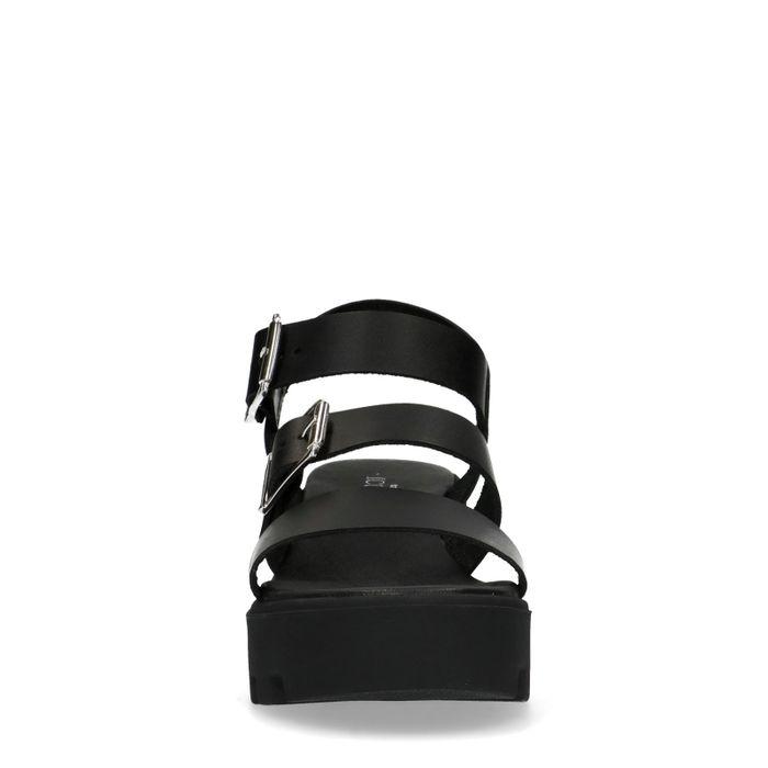 Sacha x Isha zwarte platform sandalen