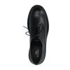 Zwarte veterschoenen met plateau zool