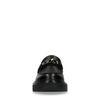 Zwarte loafers met plateau zool