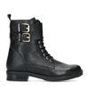Zwarte biker boots met accenten