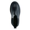 Korte leren chelsea boots