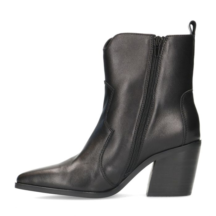 Zwarte leren western boots