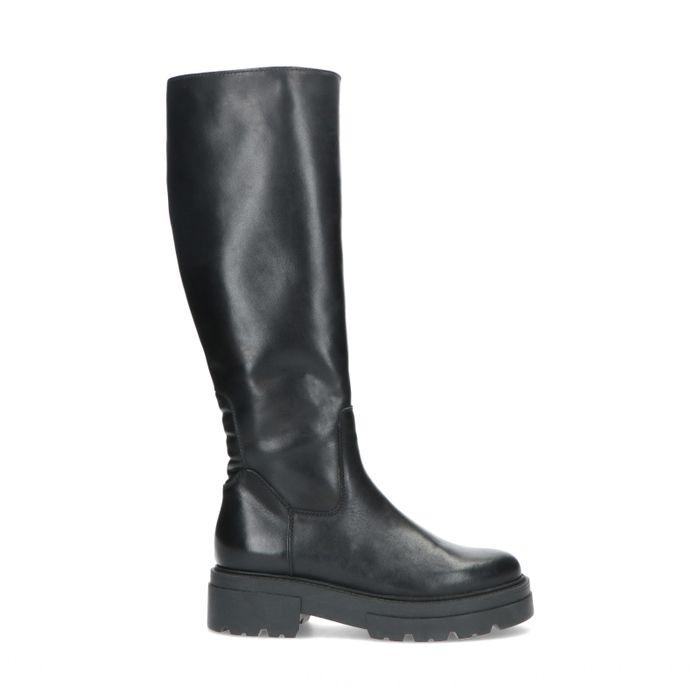 Zwarte hoge chelsea boots