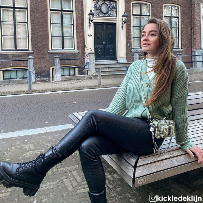 Vivian Hoorn x Sacha zwarte veterboots