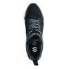 Zwarte sneakers met leren details