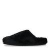 Zwarte wollen pantoffels