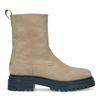 Taupe nubuck chelsea boots