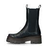 Zwarte leren chelsea boots met plateauzool