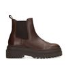 Donkerbruine chelsea boots