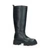 Hoge zwarte laarzen met grove zool