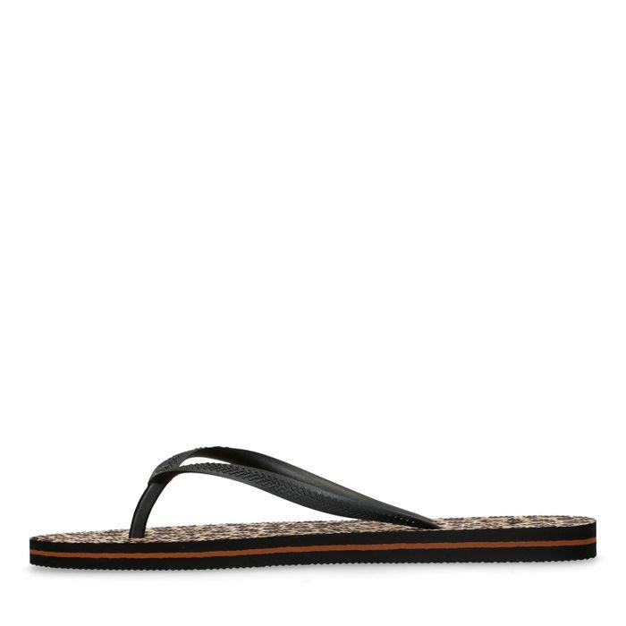 Slippers met tijgerprint
