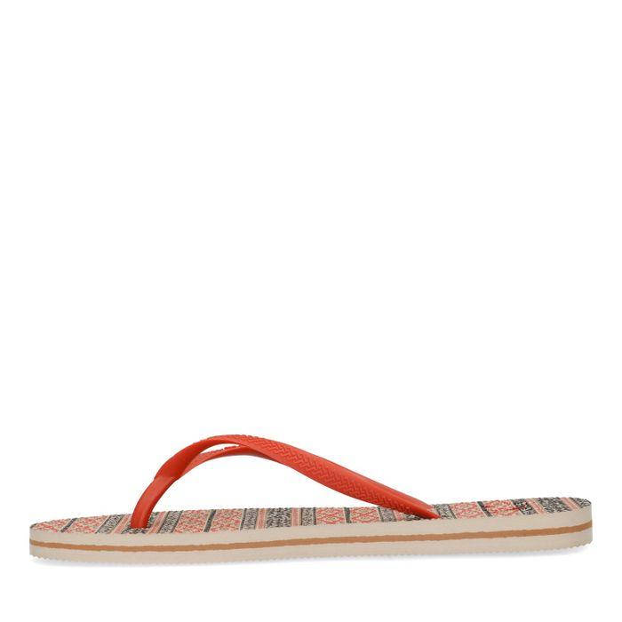 Slippers met aztec print