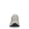 Beige nubuck sneakers met zwarte details