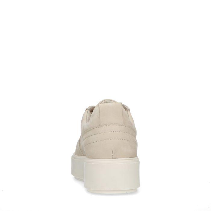 Beige nubuck sneakers