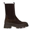 Donkerbruine nubuck chelsea boots