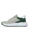 Grijze sneakers met groene details