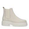 Korte off white nubuck chelsea boots