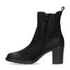 Zwarte nubuck chelsea boots met blokhak