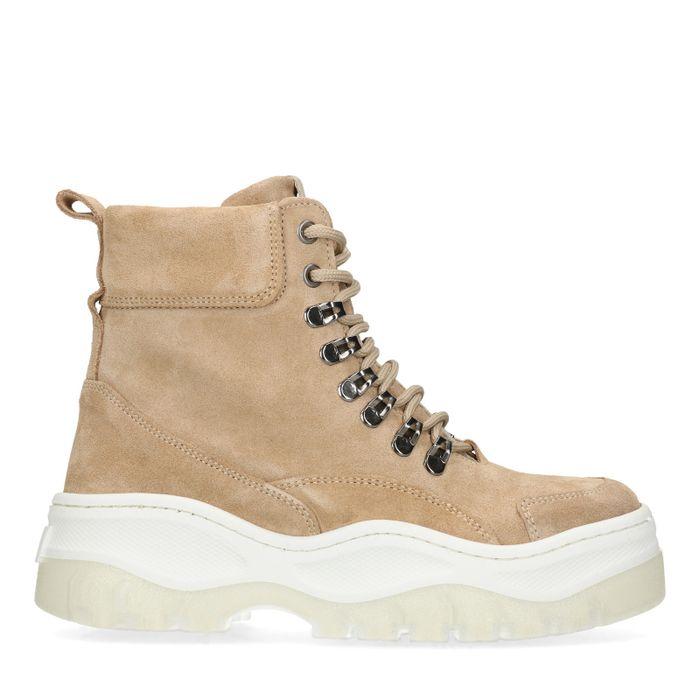 Hoge beige dad sneakers