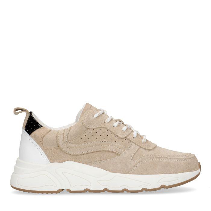 Beige suède sneakers