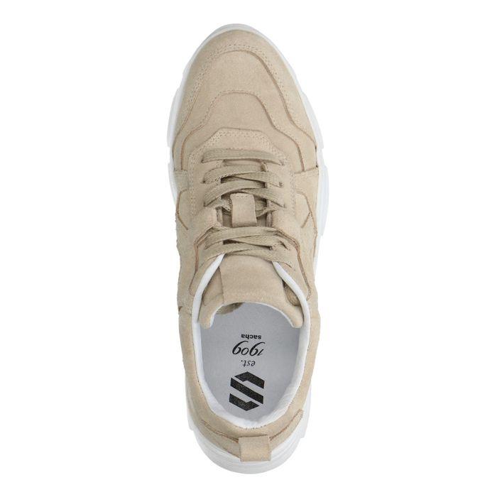 Beige suède dad sneakers