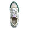 Beige suède sneakers met groene details