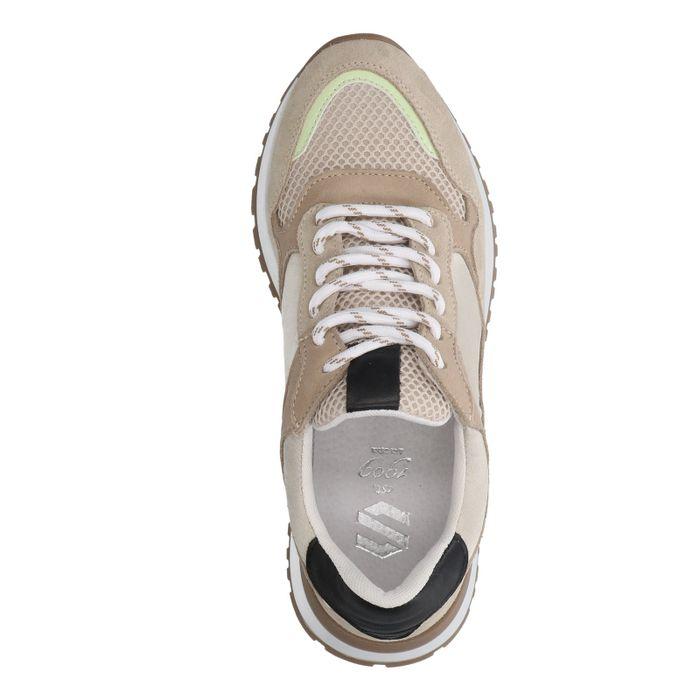 Beige suède retro sneakers