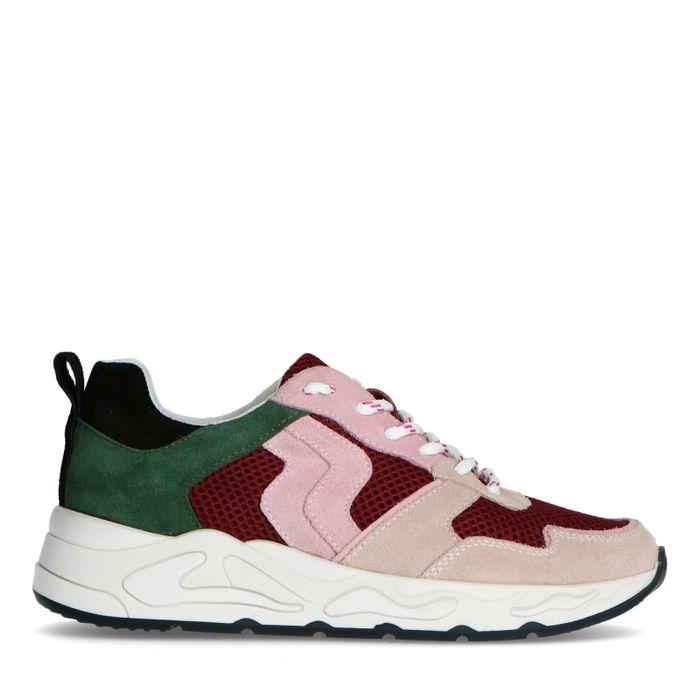 Bordeaux suède sneakers