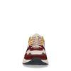 Bordeaux suède sneakers met gekleurde details