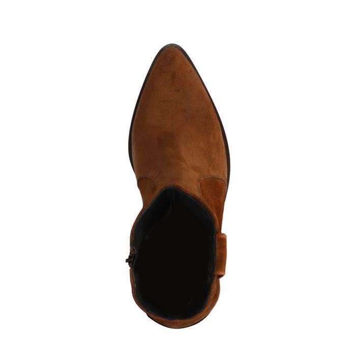 Bruine suède western boots