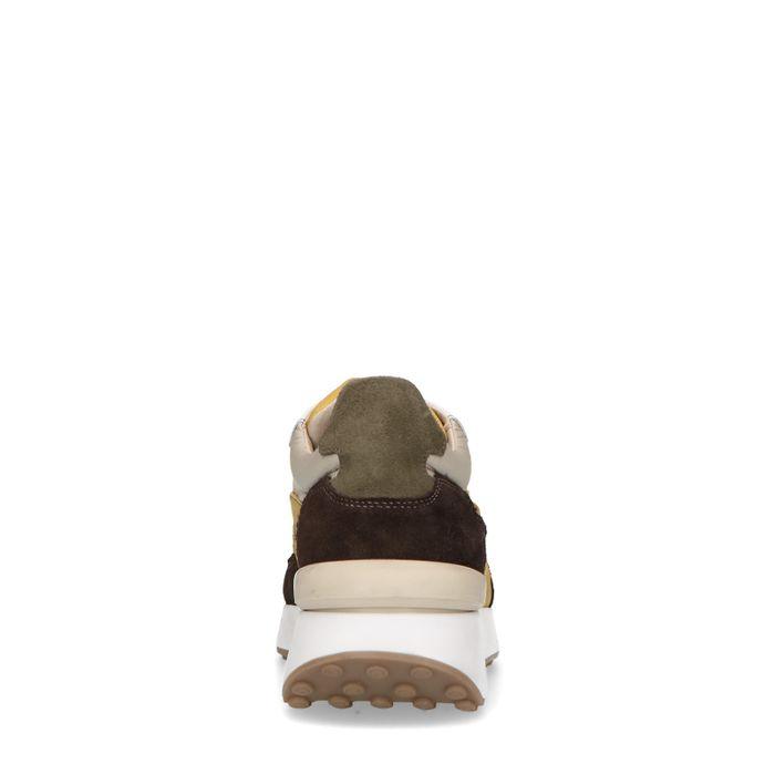 Bruine multicolor suède sneakers