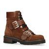 Cognac hiker boots met gespen