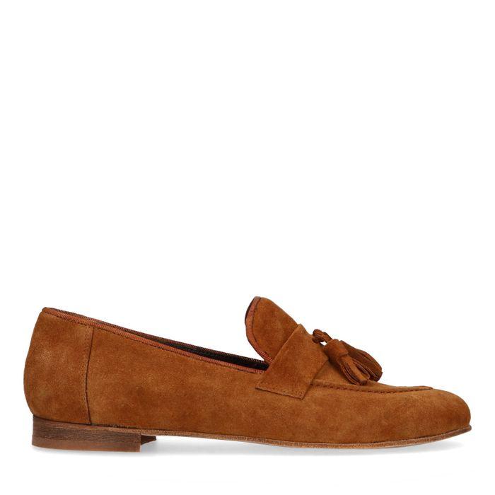 Cognac suède loafers