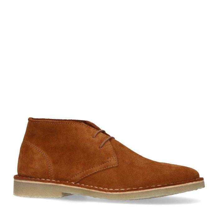 Suède desert boots cognac
