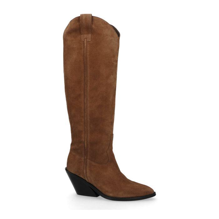 Cognac hoge cowboy laarzen