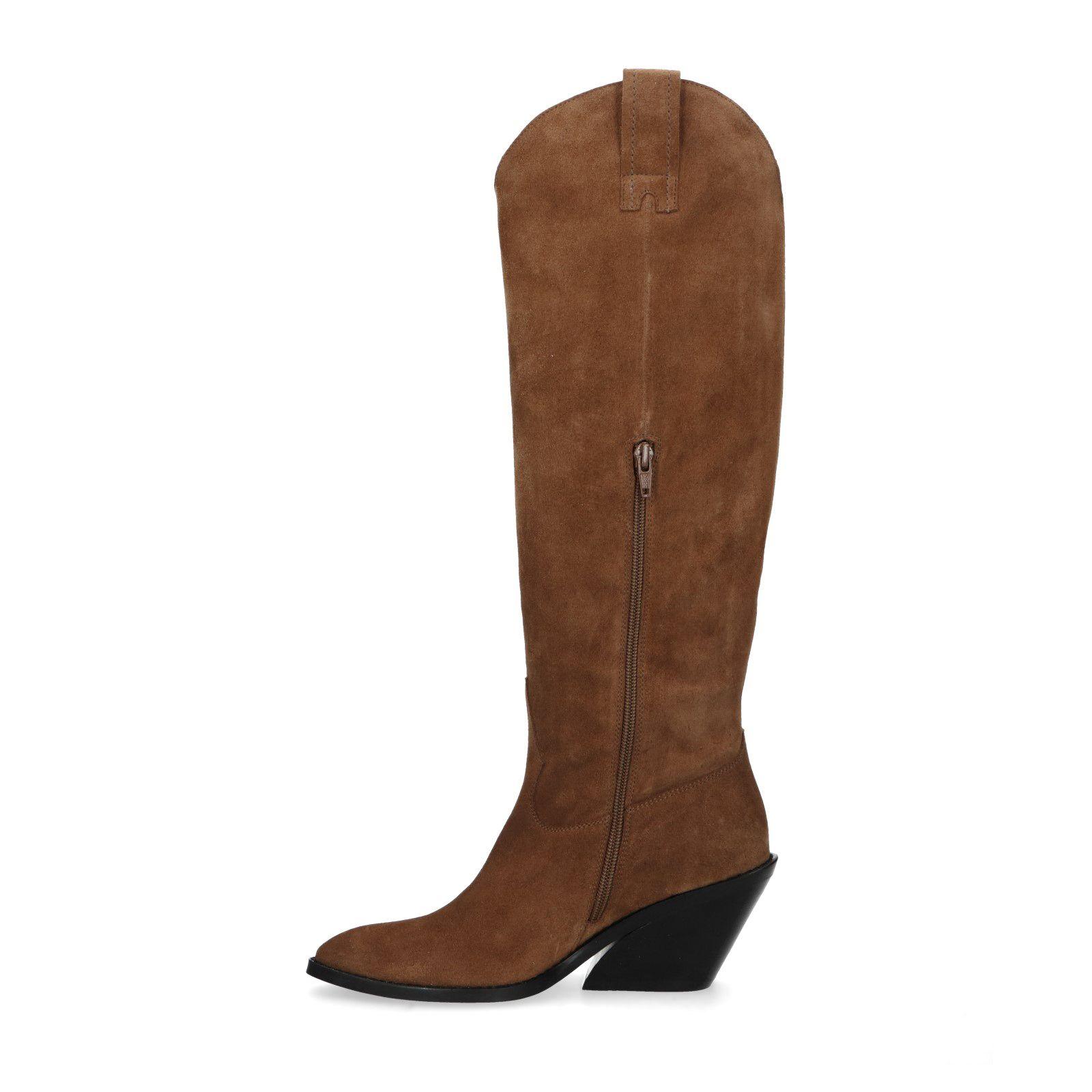 Sacha Cognac hoge cowboy laarzen