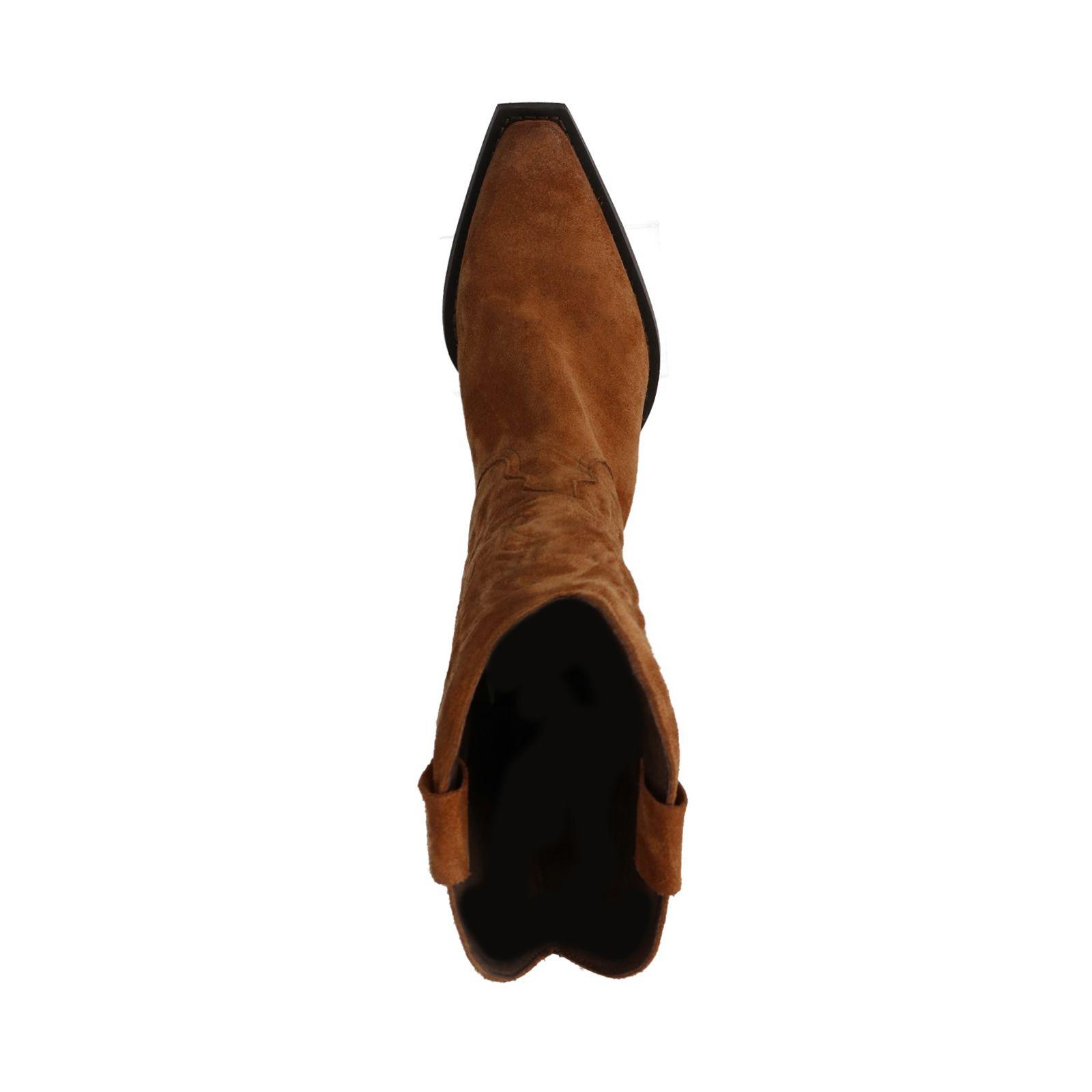 Sacha Cognac suède cowboy laarzen