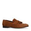 Bruine suède loafers