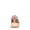 Cognac suède sneakers met gekleurde details