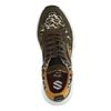 Groene dad sneakers met panterprint
