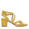 Gele sandalen met lage hak