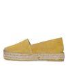 Gele suède platform espadrilles