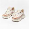 Grijze dad sneakers met roze details